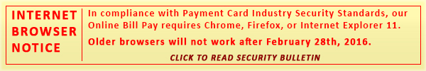 Browser Bill Pay Bulletin
