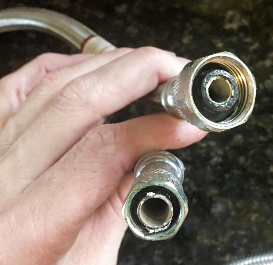 8 year old stainless steel braided hose (hot) sediment accumulation